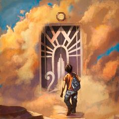 Перси возле дверей в Олимп