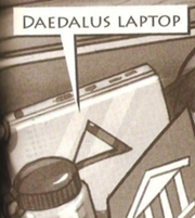 Annabeth's trunk Daedalus' laptop
