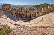 1 acropolis de atenas. teatro