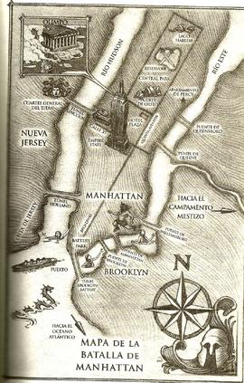 Batalla de Manhattan, Mapa