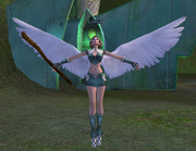 Loxxa winged elf cleric by LozzaWaterBender