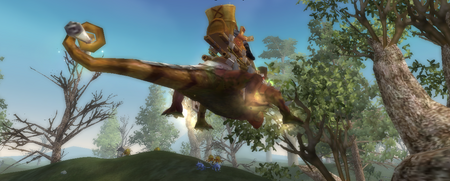 Spiny Chameleon jump