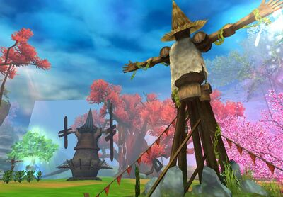 Faction Base Windmill Scarecrows Crops