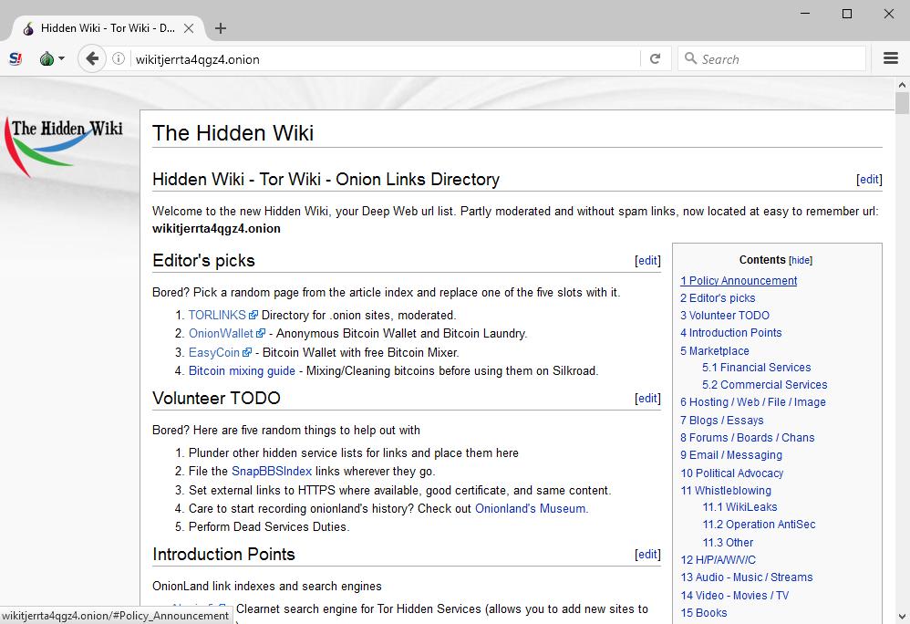 hidden wiki link for tor browser вход на гидру