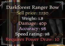 Dot8 Darkforest Ranger Bow