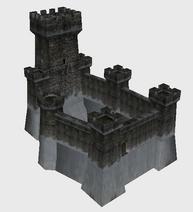 Icon map castle snow a