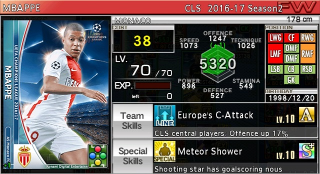 Mbappe | PES Manager Wiki | FANDOM powered by Wikia