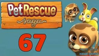 Pet Rescue Saga 🐶 Level 67 - 3 Stars Walkthrough, No Boosters