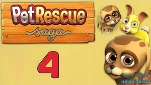 Pet Rescue Saga Level 4 - 3 Stars Walkthrough, No Boosters