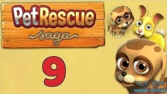 Pet Rescue Saga Level 9 - 3 Stars Walkthrough, No Boosters