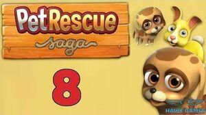 Pet Rescue Saga Level 8 - 3 Stars Walkthrough, No Boosters