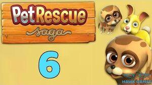 Pet Rescue Saga Level 6 - 3 Stars Walkthrough, No Boosters