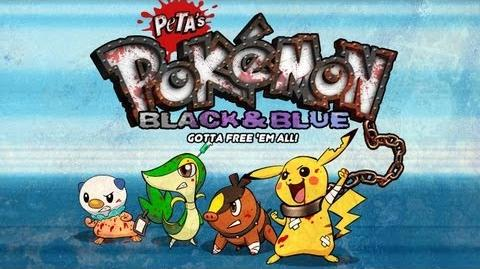 Pokémon Black & Blue -- PETA's Terrible Parody Game!