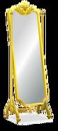 Gold Framed Rococo Floor Mirror