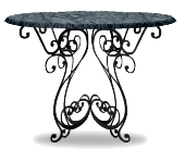 Black venetian cafe table