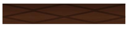 Dark brown diamond pattern floor extender