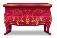 Pink Rococo Chest