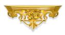 Gold Rococo Shelf