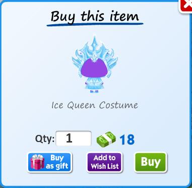 Ice queen costume