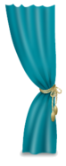 Teal Curtain Left
