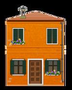 Orange Venetian House Decal