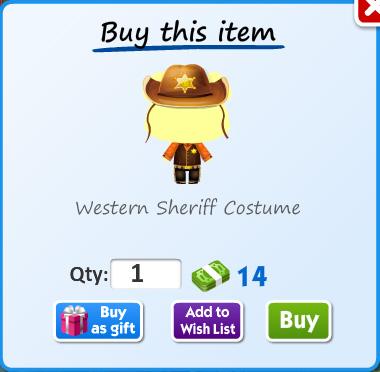 Western sheriff costume