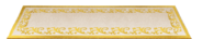 Gold and Beige Rococo Style Carpet