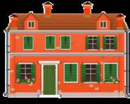 Orange Venetian House Decal (version 2)