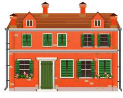 Orange venetian house decal version 2