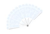 White handheld fan