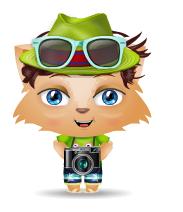 Tourist with camera mini buddy