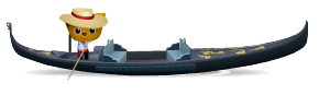 Animated venetian gondola