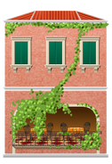 Venetian Hotel and Cafe Decal