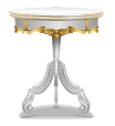 White Rococo Coffee Table