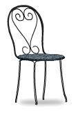 Black venetian cafe chair left