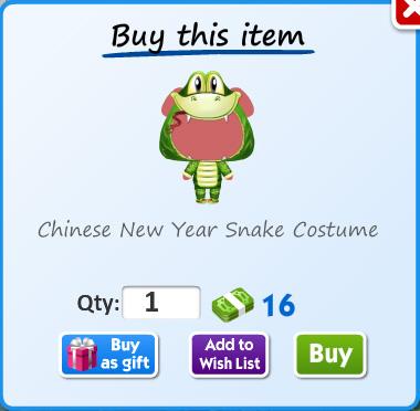 Chinese new year snake costume