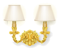 Gold rococo wall lamp