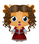 Venetian Red Dress Girl Decal