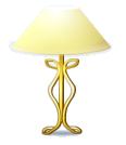 Gold Base Rococo Lamp