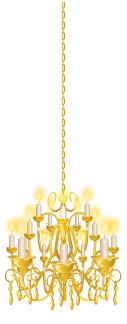Gold rococo chandelier