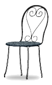 Black venetian cafe chair right