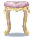Beighe rococo vanity stool