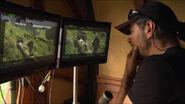 Serkis filming Hobbiton