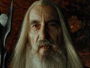 Christopher Lee as Saruman