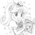 Kilala reading a book