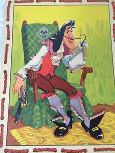 Vintage Walt Disney Peter Pan Sewing Cards Game 1952 Captain Hook