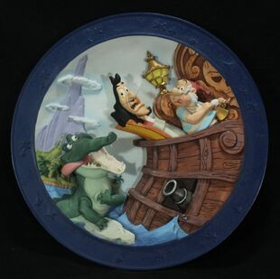 Peter Pan 3-D Plate It's The Croc!.