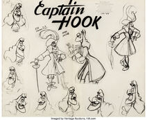Peter Pan Captain Hook Model Sheet