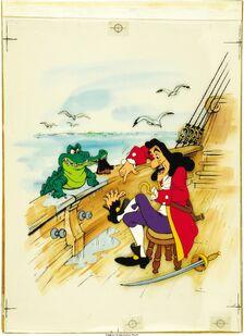 Peter Pan Captain Hook Book Illustration Original Art (Walt Disney, undated)
