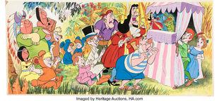Peter Pan Multi-Character Book Illustration Original Art